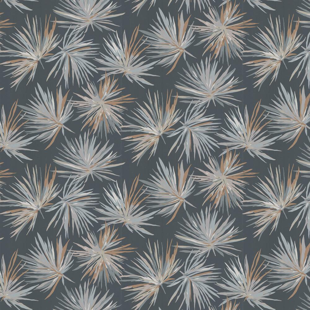 Aucuba Wallpaper - Slate / Bronze / Topaz - by Harlequin