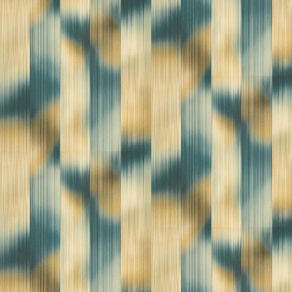Oscillation Wallpaper - Adriatic / Sand - by Harlequin