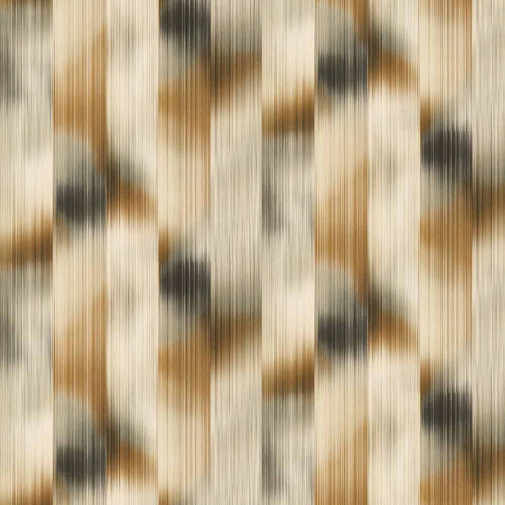 Oscillation Wallpaper - Tobacco / Slate - by Harlequin