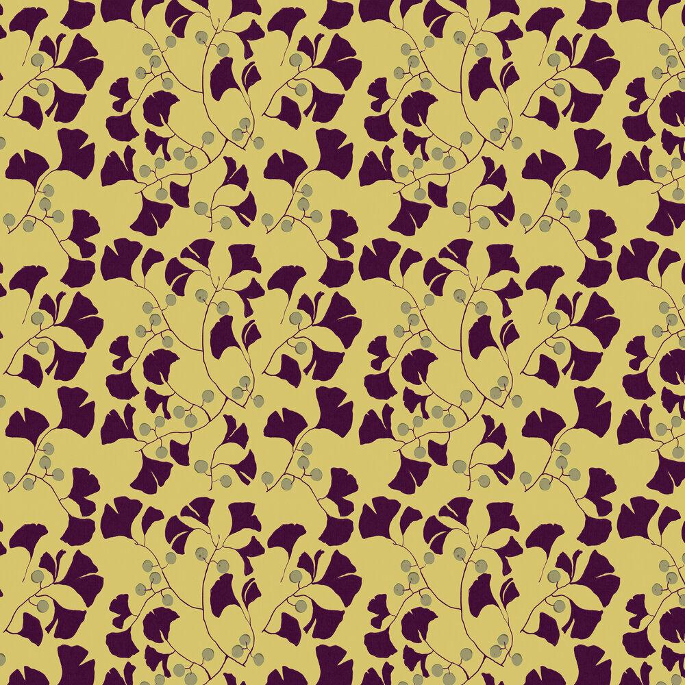 Furoshiki Wallpaper - Mustard - by Coordonne