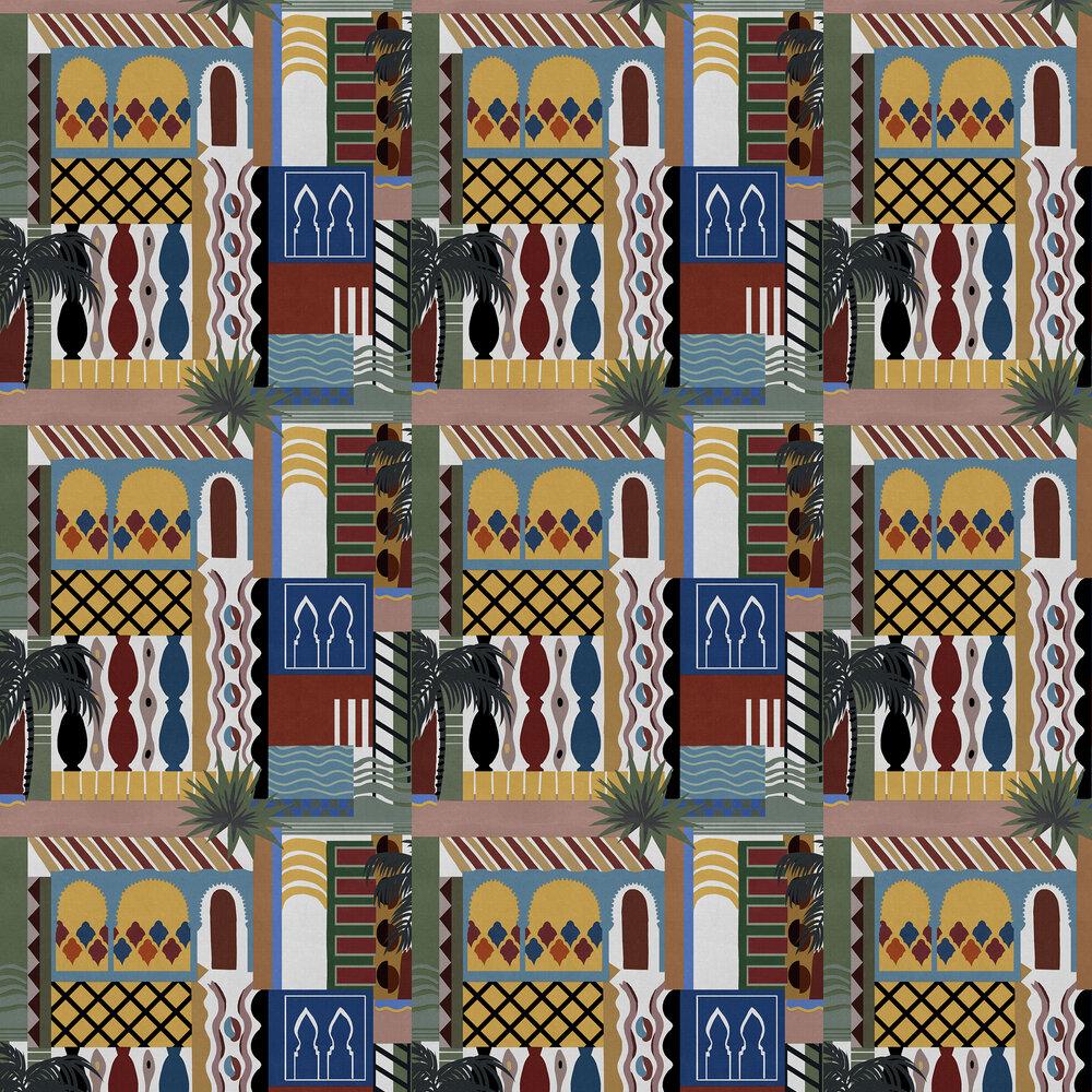 Majorelle Wallpaper - Mustard - by Coordonne