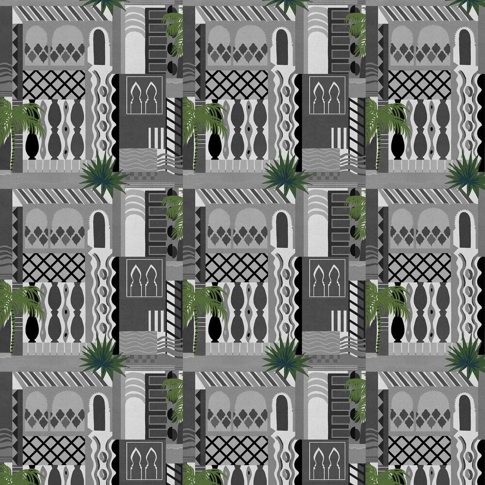 Majorelle Wallpaper - Monochrome - by Coordonne