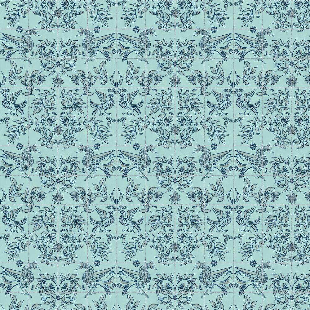 Cerâmica Wallpaper - Aqua - by Coordonne