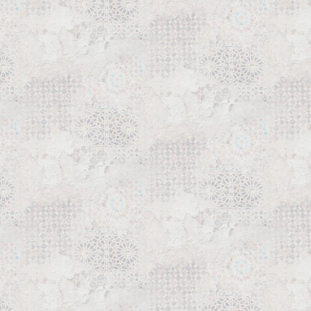 Rustic Mosaic Wallpaper - Ivory - by Metropolitan Stories