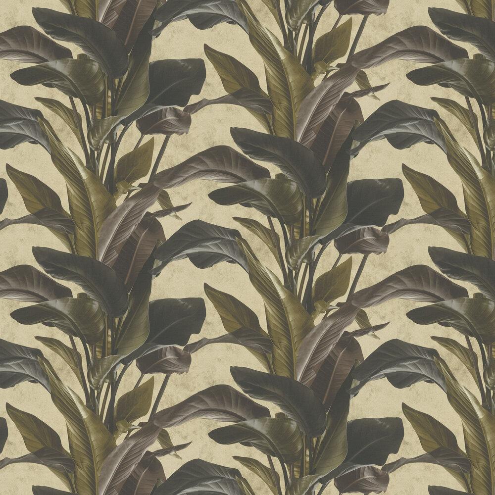 Bold Leaves Wallpaper - Ash - by Metropolitan Stories