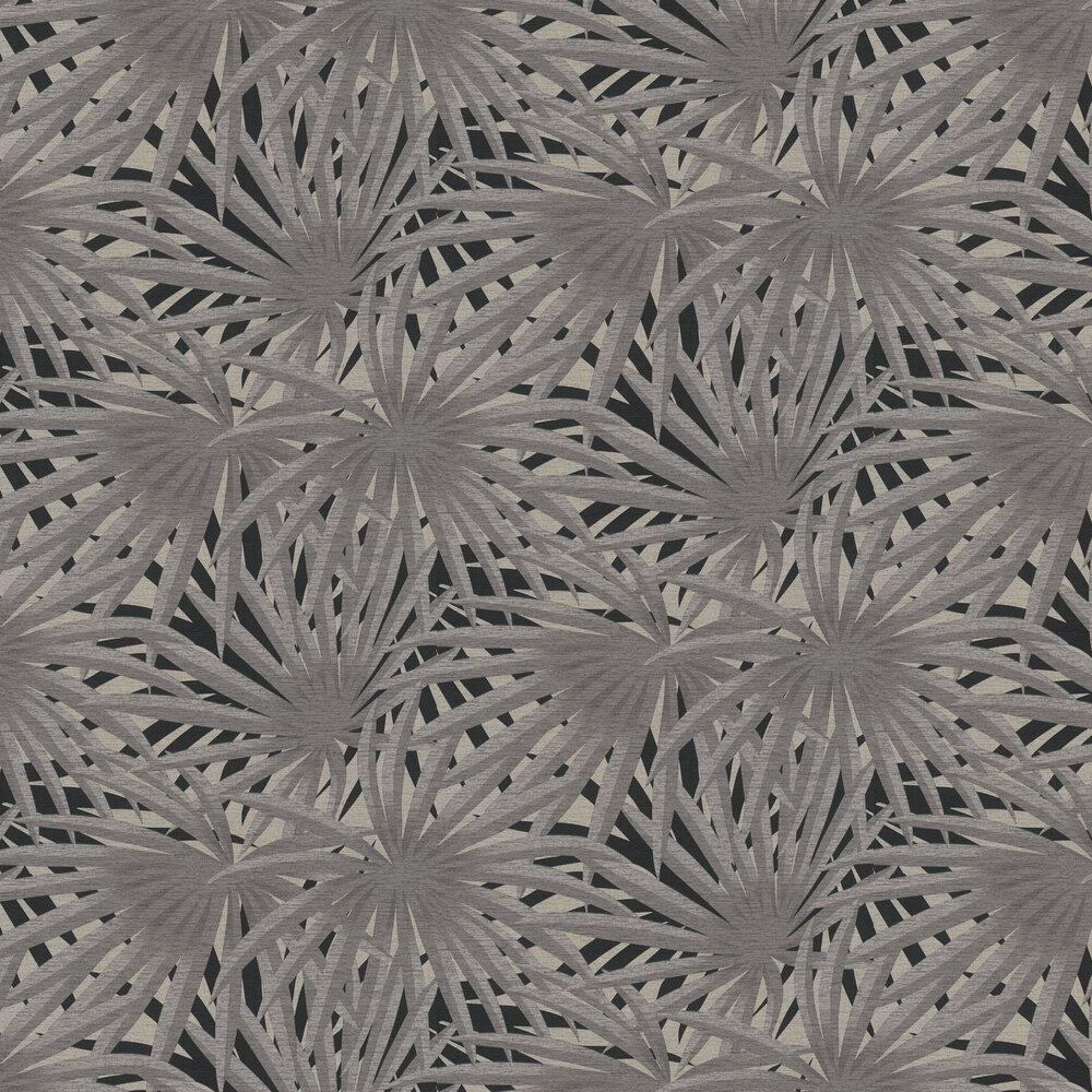 Palm Leaf Wallpaper - Charcoal - by Metropolitan Stories