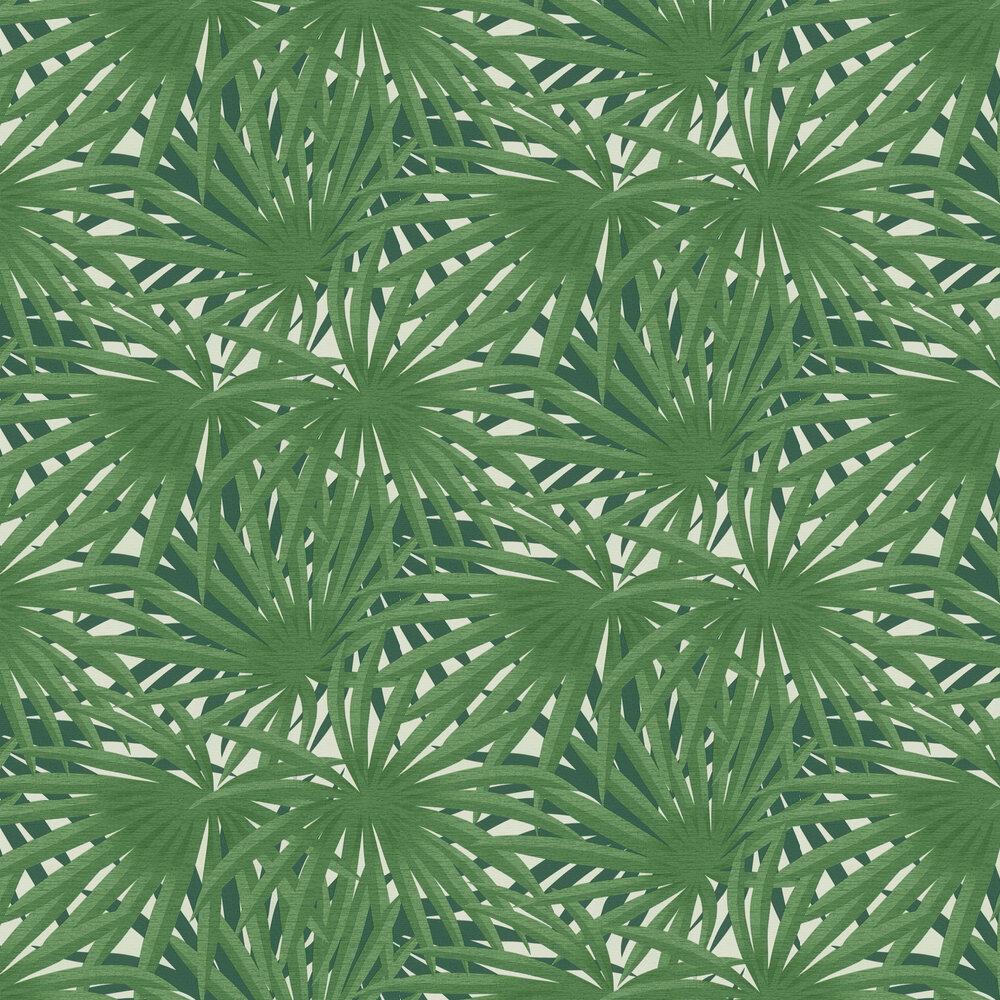 Palm Leaf Wallpaper - Green - by Metropolitan Stories