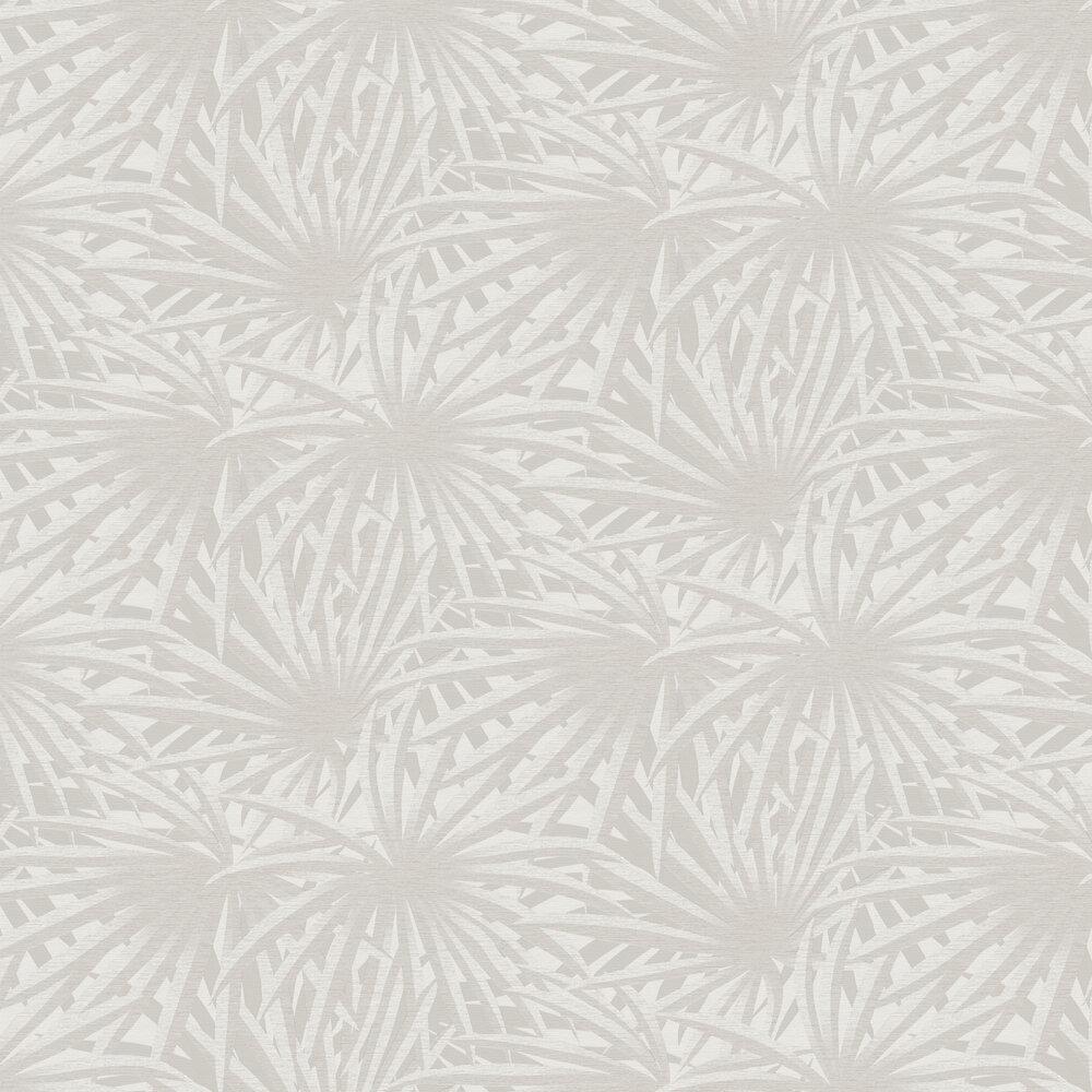 Palm Leaf Wallpaper - Light Grey - by Metropolitan Stories
