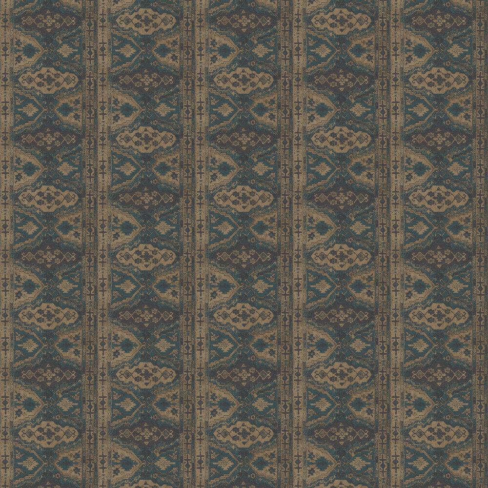 Tapestry Wallpaper - Teal - by Metropolitan Stories