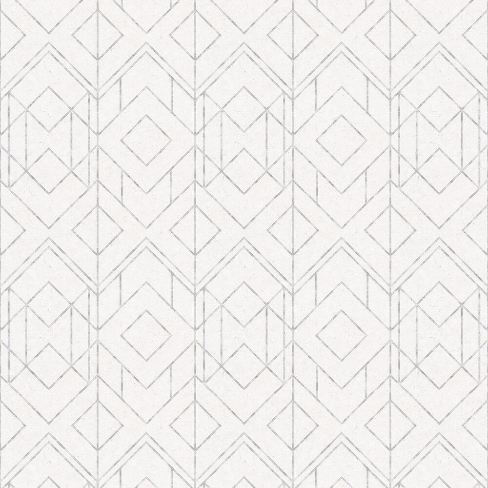 Diamonds Wallpaper - White - by Metropolitan Stories