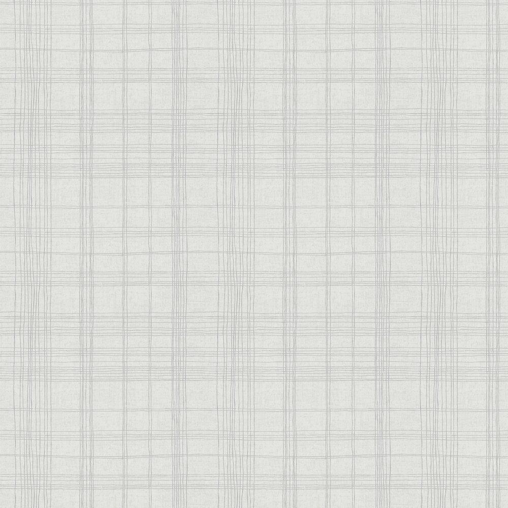 Checkered Wallpaper - Light Grey - by Metropolitan Stories