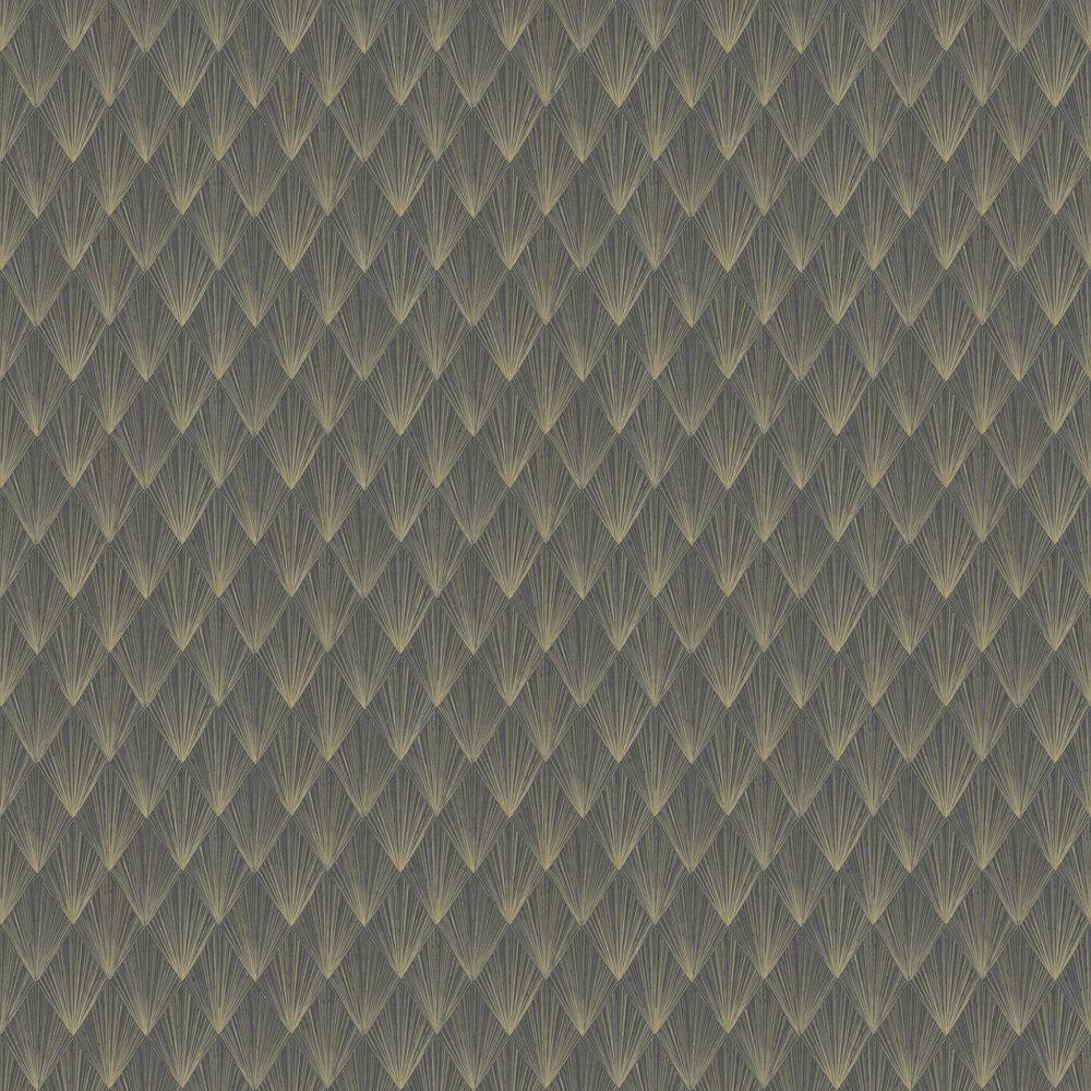 Deco Wallpaper - Black - by Metropolitan Stories