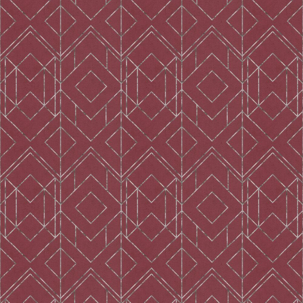 Diamonds Wallpaper - Red - by Metropolitan Stories