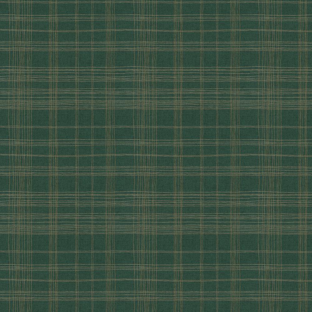 Checkered Wallpaper - Green - by Metropolitan Stories