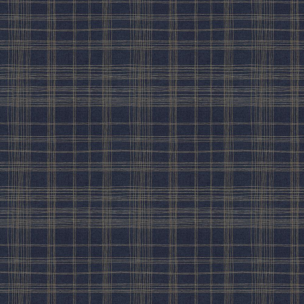 Checkered Wallpaper - Navy - by Metropolitan Stories