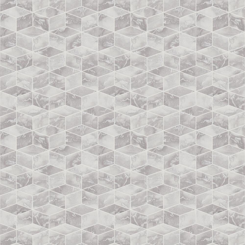 Cube  Wallpaper - Grey - by Metropolitan Stories