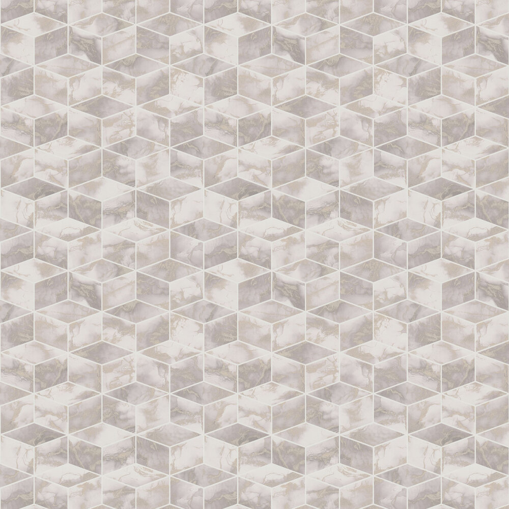 Cube  Wallpaper - Blush - by Metropolitan Stories
