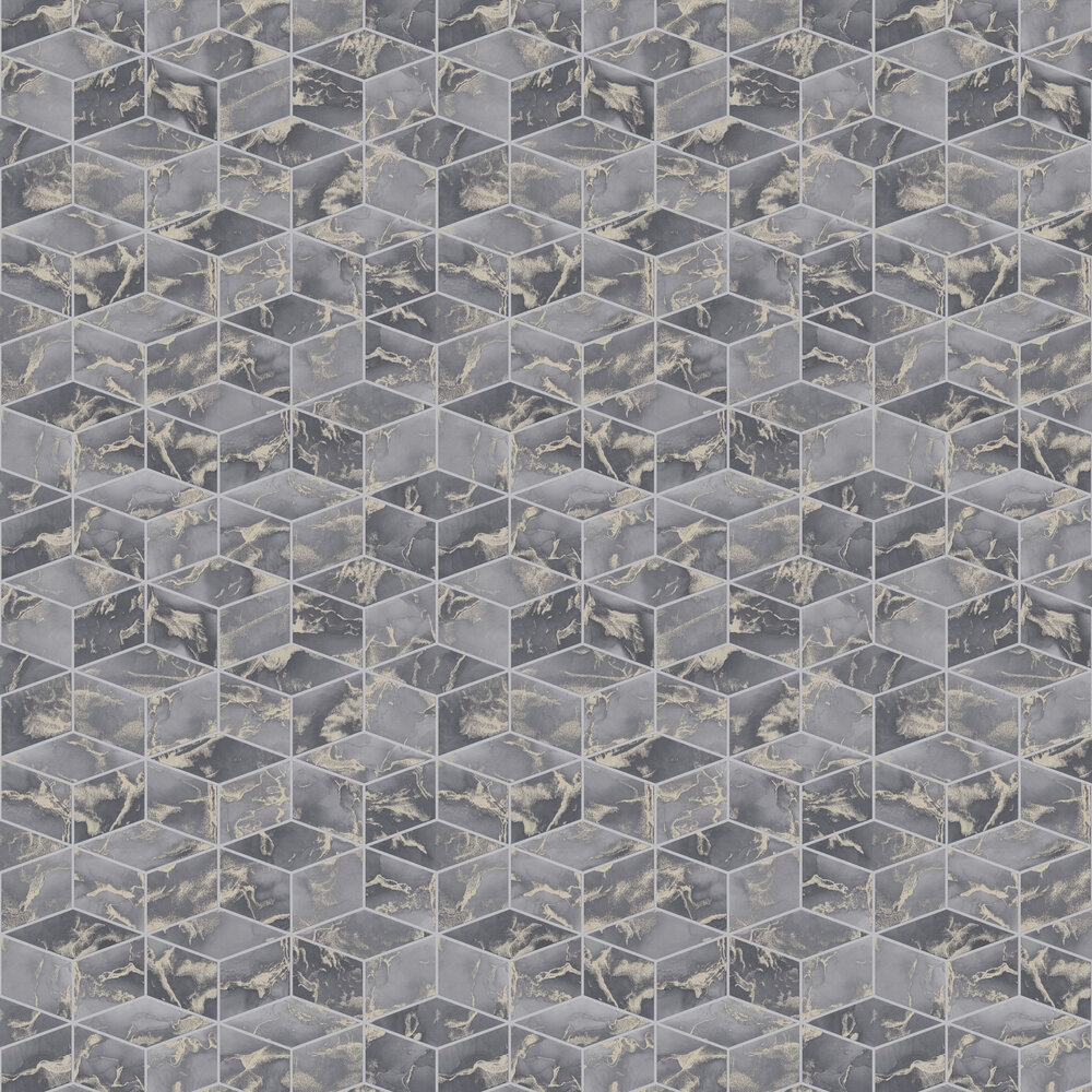 Cube  Wallpaper - Slate - by Metropolitan Stories
