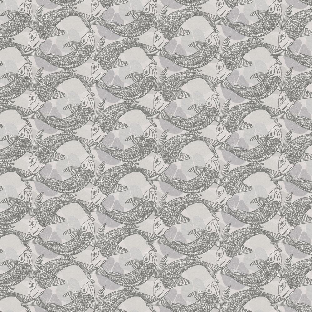 Coy Wallpaper - Light Grey - by Metropolitan Stories