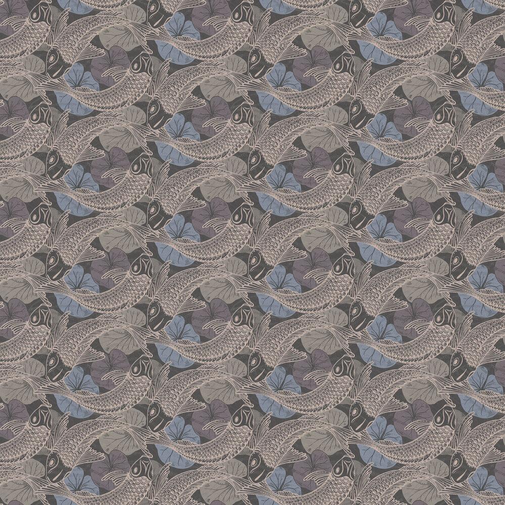 Coy Wallpaper - Slate - by Metropolitan Stories