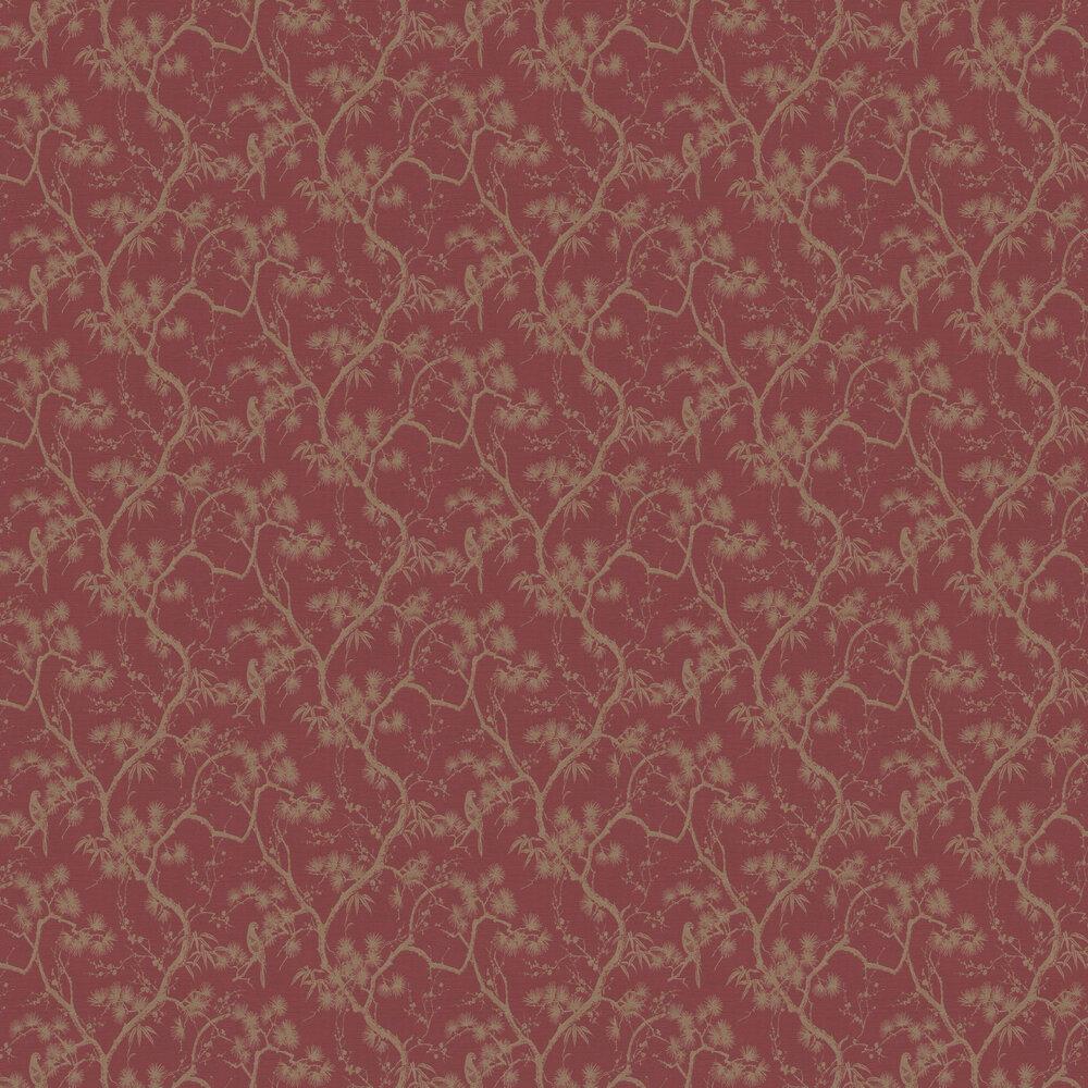 Treetop Wallpaper - Red - by Metropolitan Stories