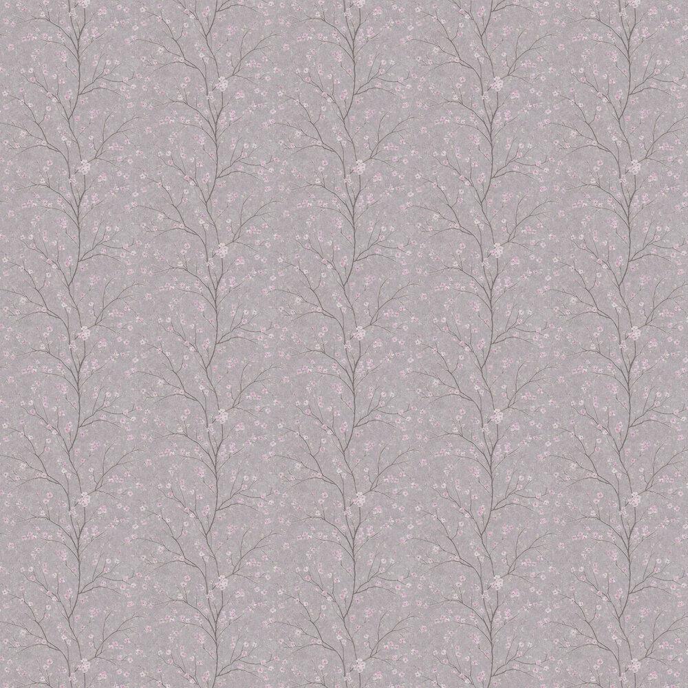 Blossom Wallpaper - Grey - by Metropolitan Stories