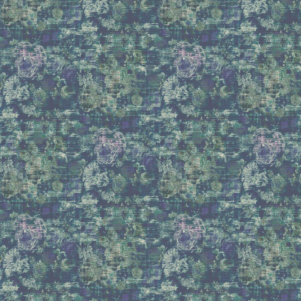 Beryl Wallpaper - Indigo - by Elizabeth Ockford