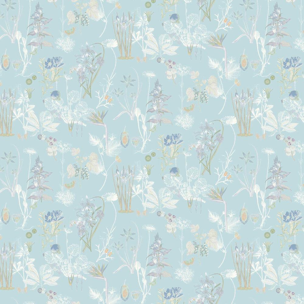 Marianne Wallpaper - Sky Blue - by Elizabeth Ockford