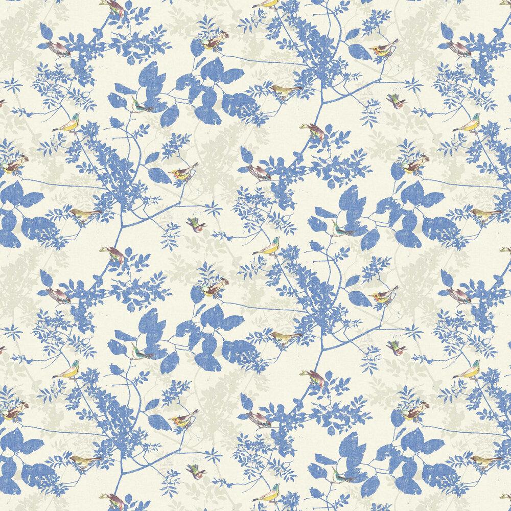 Julia Wallpaper - Marin Blue - by Elizabeth Ockford