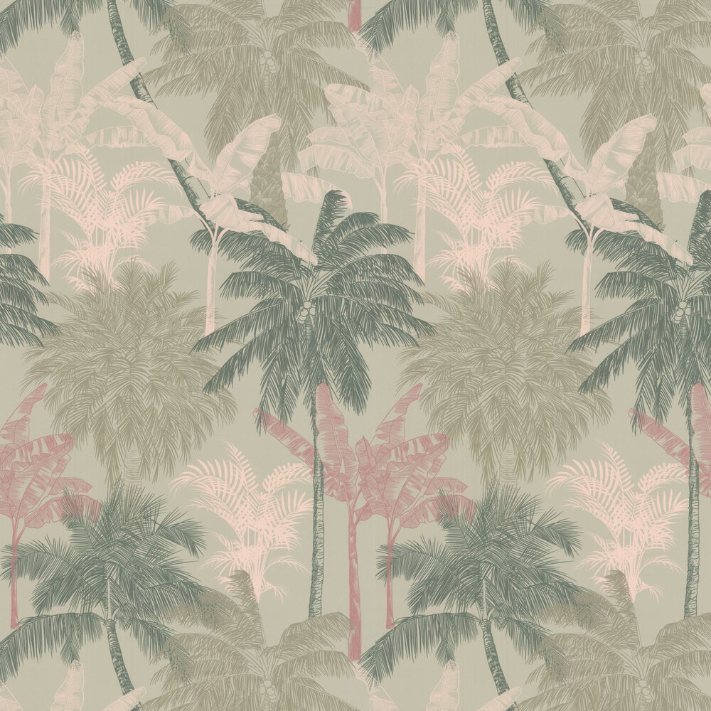 St Vincent Wallpaper - Jade - by Prestigious