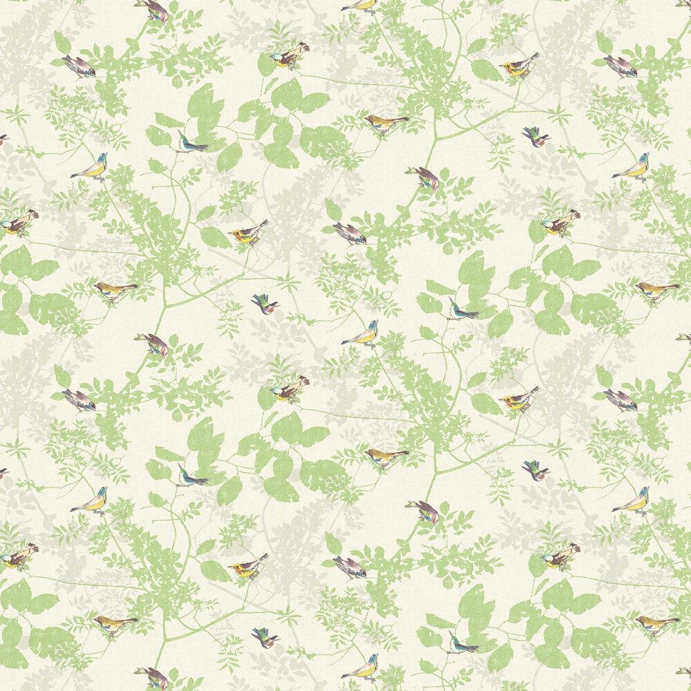 Julia Wallpaper - Spring Green - by Elizabeth Ockford