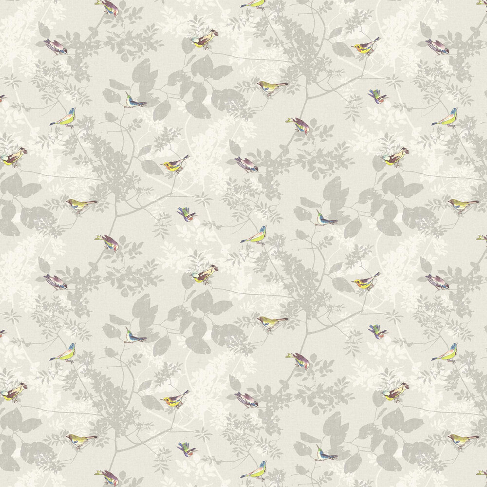 Julia Wallpaper - Grey - by Elizabeth Ockford