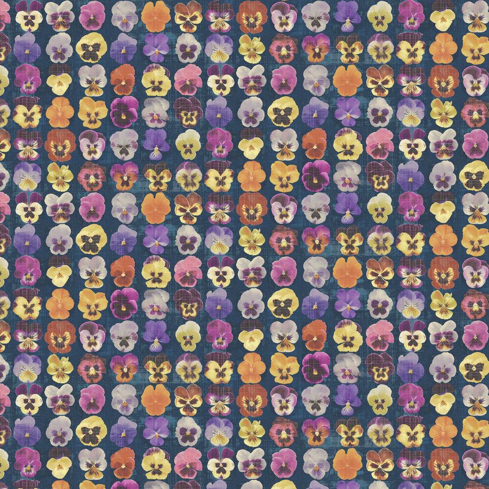 Gertrude Wallpaper - Indigo - by Elizabeth Ockford