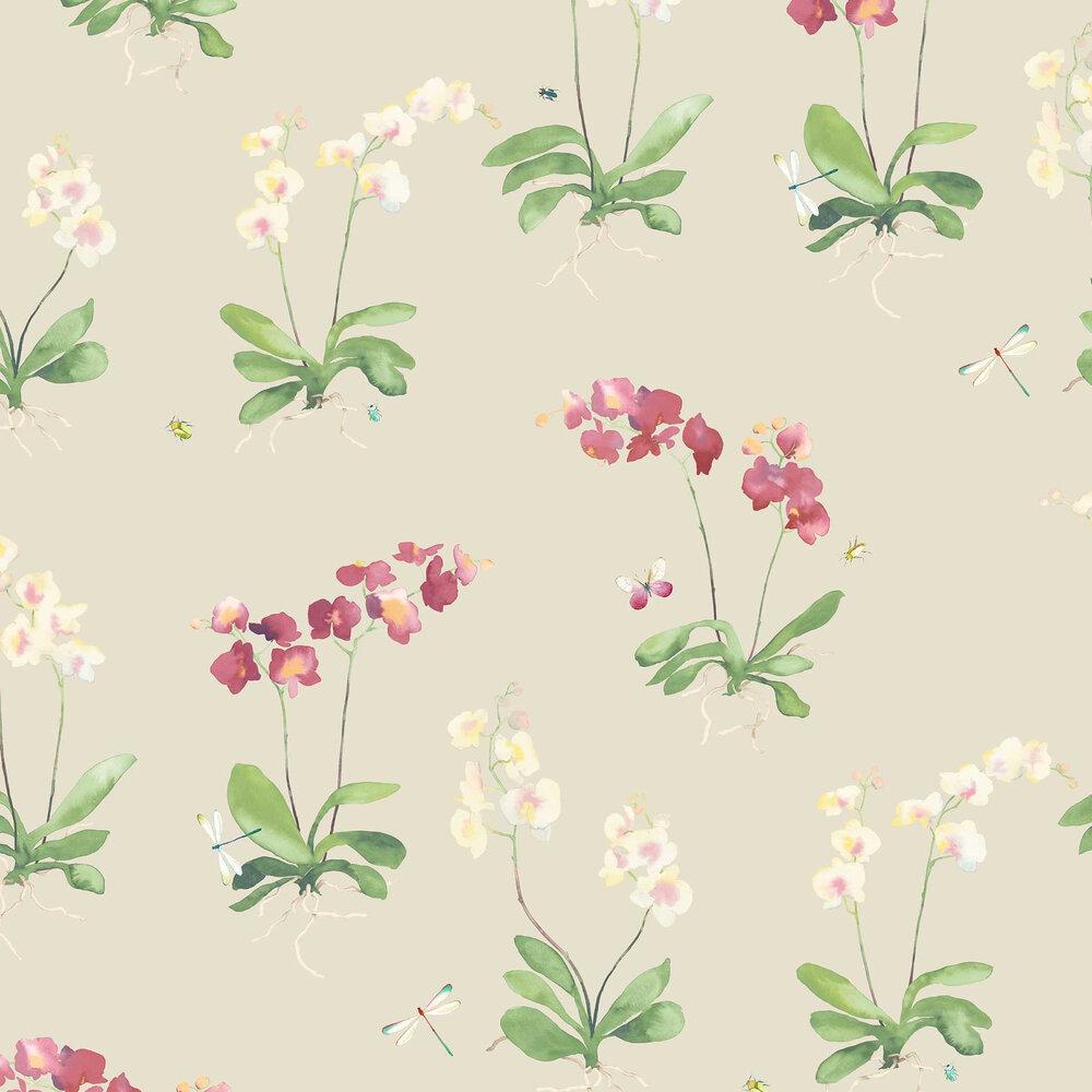 Sadie Wallpaper - Neutral - by Elizabeth Ockford
