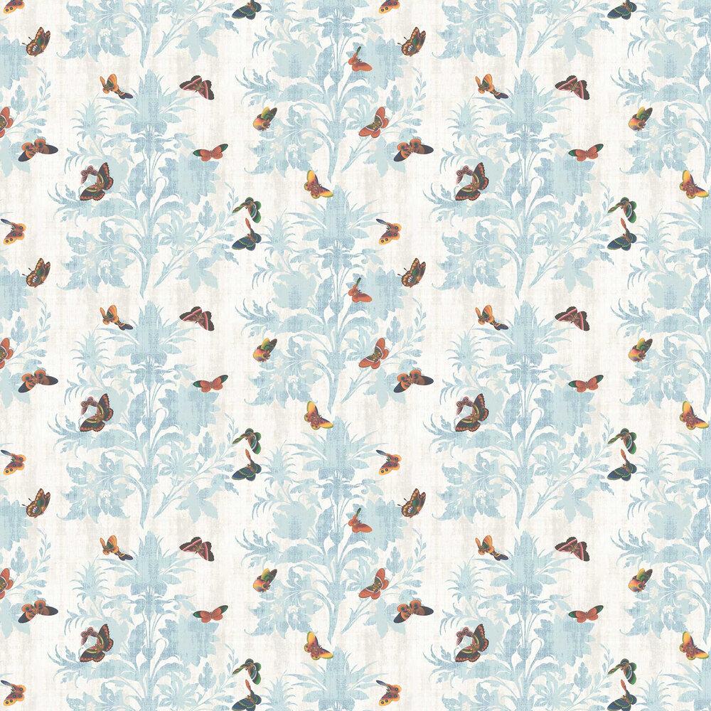 Lady Penrose Wallpaper - Sky Blue - by Elizabeth Ockford