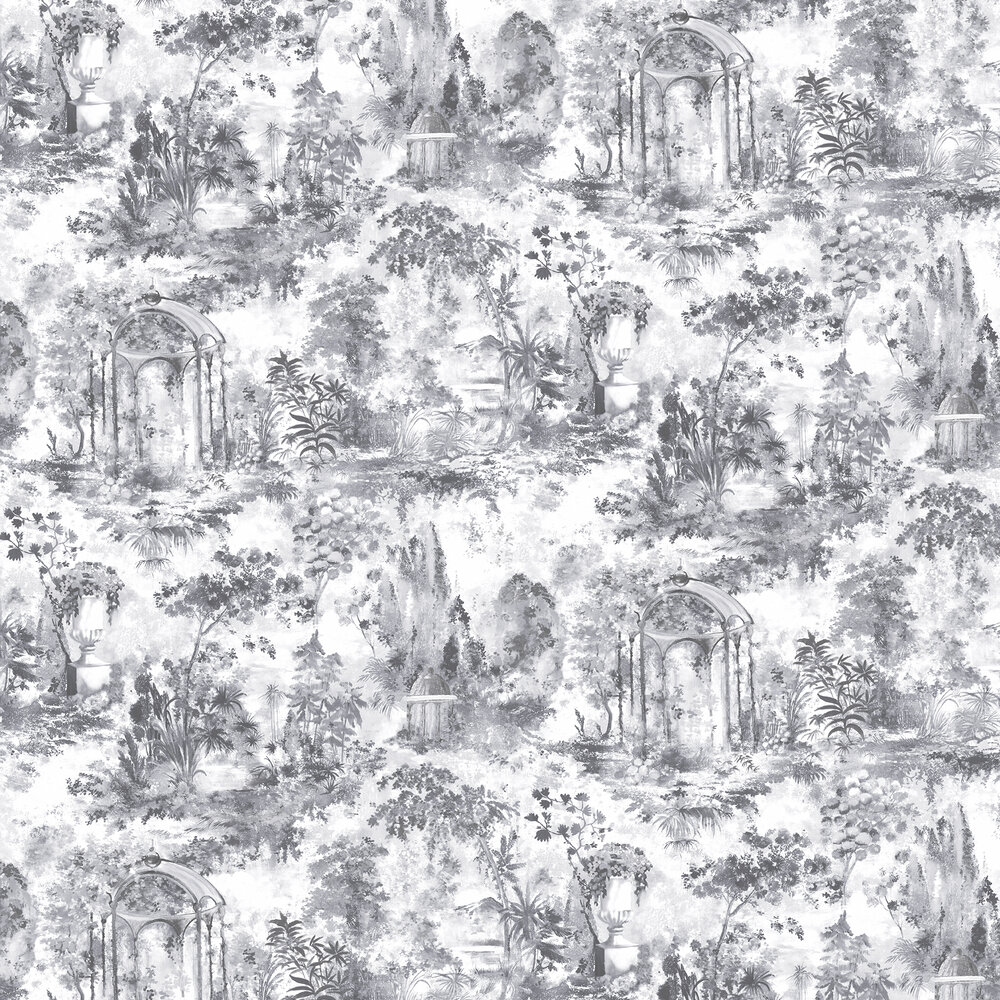 Pavilion Wallpaper - Stone Grey - by 1838 Wallcoverings