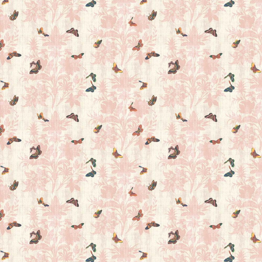 Lady Penrose Wallpaper - Pink - by Elizabeth Ockford