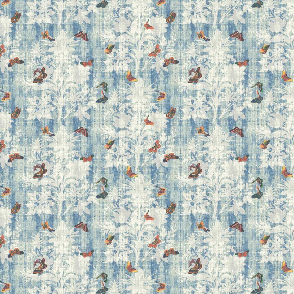Lady Penrose Wallpaper - Dark Blue - by Elizabeth Ockford
