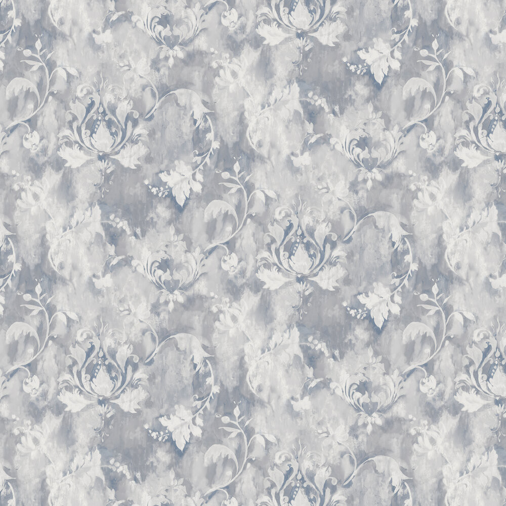 Ornamenta Wallpaper - Pewter Grey - by 1838 Wallcoverings