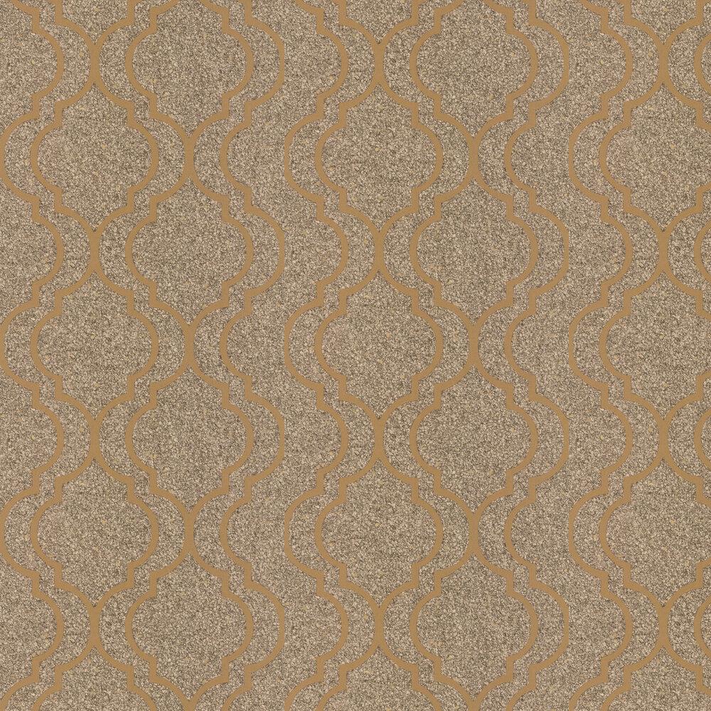 Massima Trellis Wallpaper - Gold - by Albany