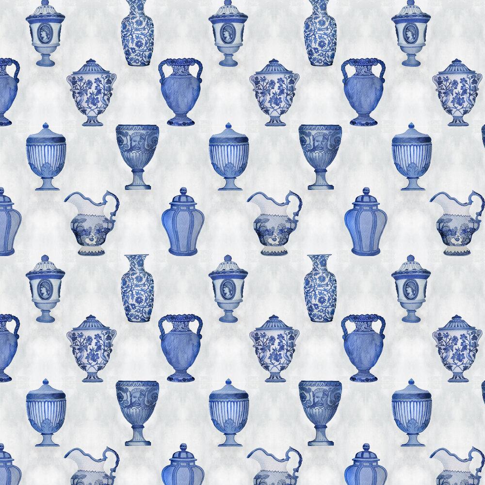 Porcelaine Wallpaper - Cobalt - by Coordonne