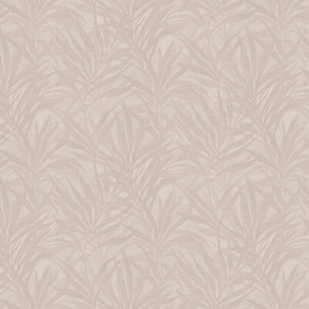 Luciano Palm Wallpaper - Beige - by Albany
