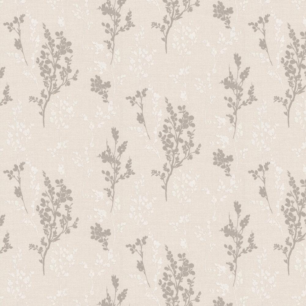 Organica Leaf Wallpaper - Pearl - by Albany