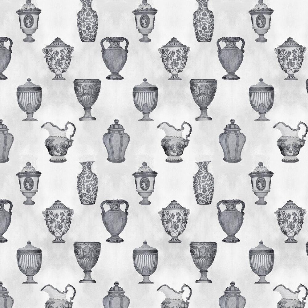 Porcelaine Wallpaper - Ink - by Coordonne