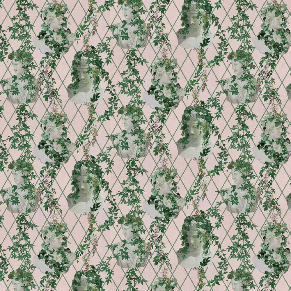 Statues Wallpaper - Pink - by Coordonne