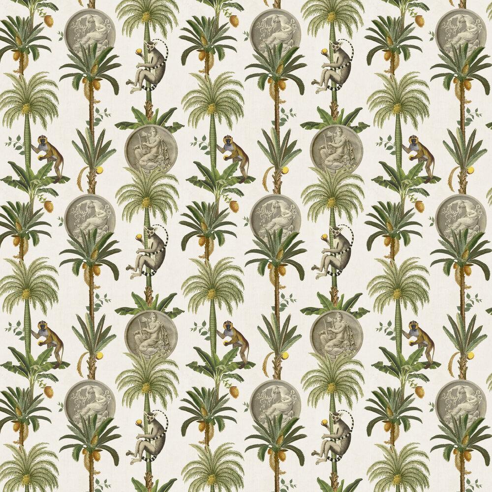Lémurs Wallpaper - Swan - by Coordonne
