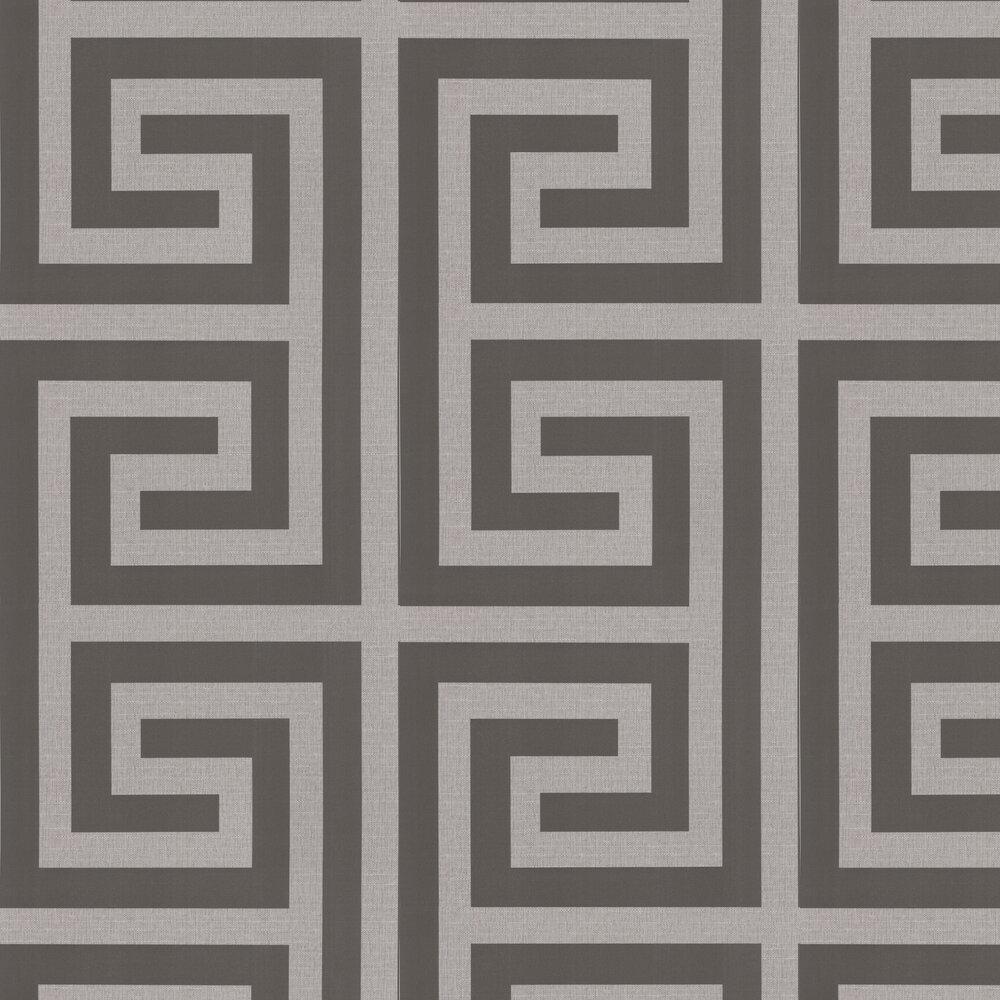 Giorgio Greek Key Wallpaper - Silver - by Albany