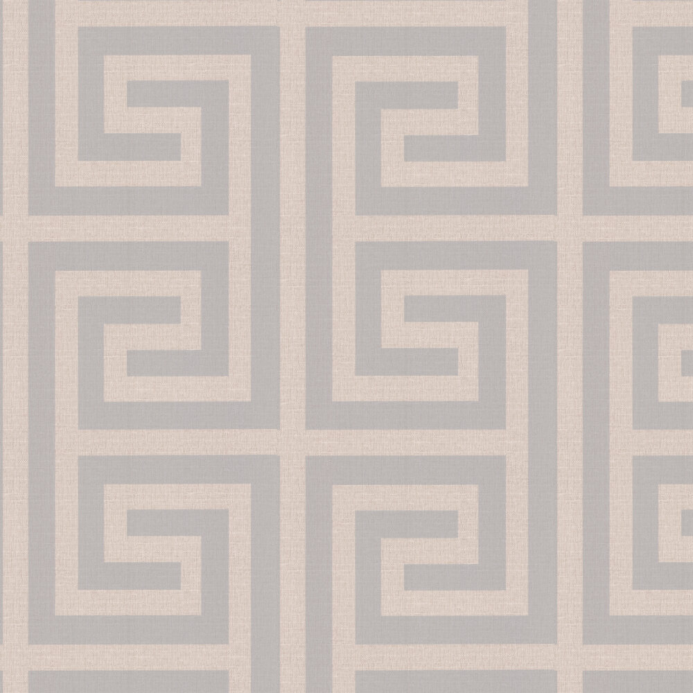 Giorgio Greek Key Wallpaper - Beige - by Albany