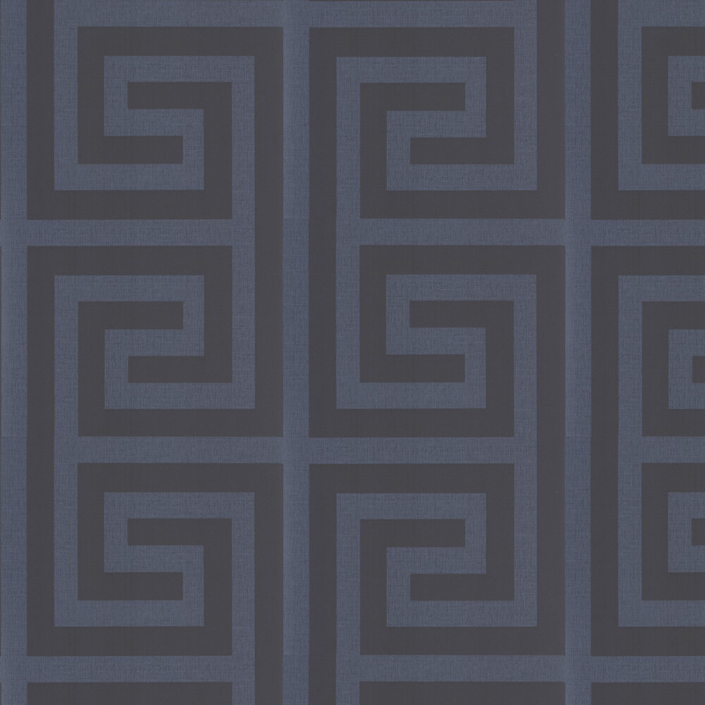 Giorgio Greek Key Wallpaper - Dark Blue - by Albany