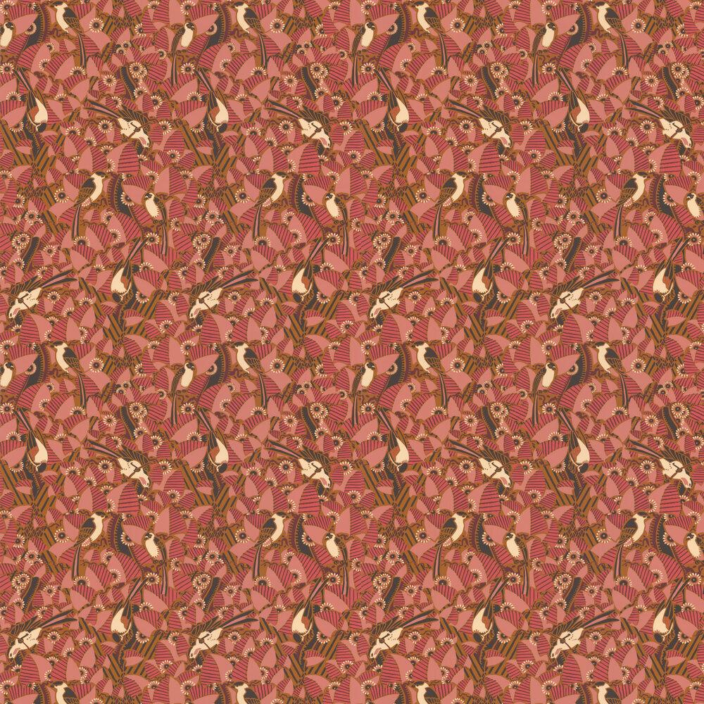 Majolica Wallpaper - Blush / Terre De Sienne - by Casamance